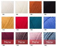 Pure wool superwash worsted /ROWAN/ 100g  - 500g pack - full color card